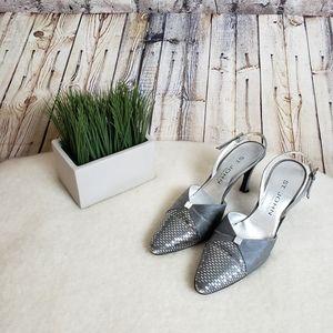 St. John Pointed Toe Slingback Dress Heels